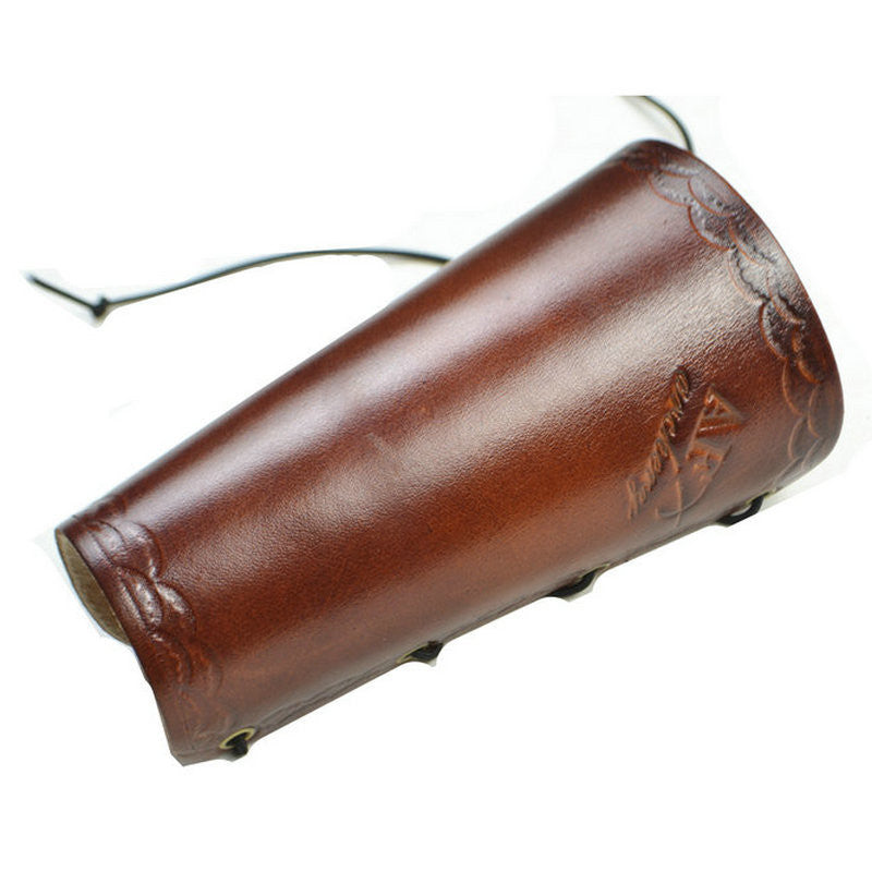 Brown Leather Arm Restraint Protector Archery Guard