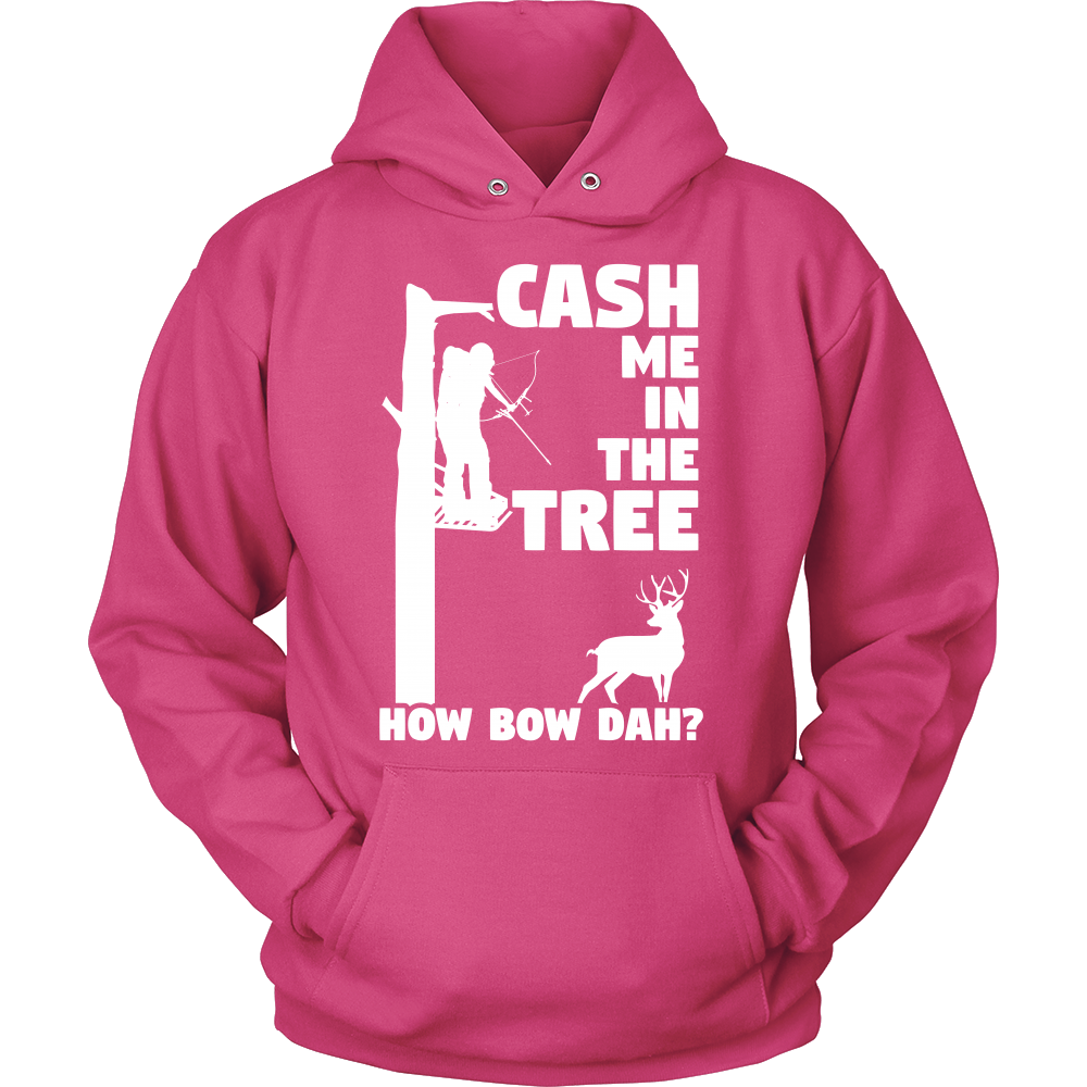"""Cash Me In The Tree"" Bow Hunting Sweatshirt"