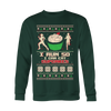 """I Run To Eat Cupcake"" Christmas Sweater"