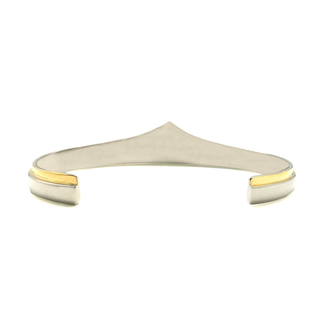 Wonder Woman Swimming Silver And Gold Bracelet Cuff