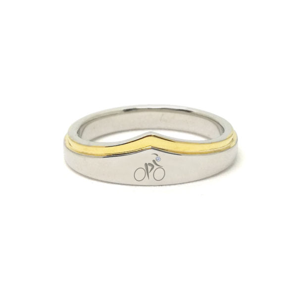 Wonder Woman Cyclist Silver And Gold Zirconia Ring