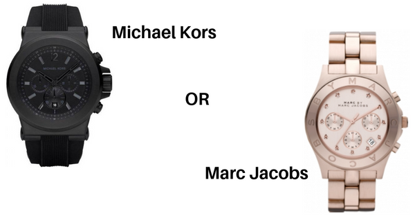 MICHAEL KORS OR MARC JACOBS WATCH, WHICH ONE DO I CHOOSE?