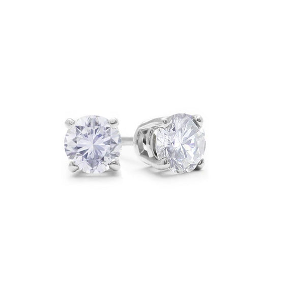 Diamond studs in 10k white gold