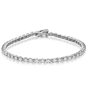 10k white gold 3 carat diamond tennis bracelet