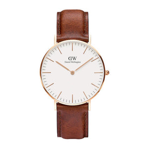 Brown leather strapped Daniel Wellington St Mawes Watch