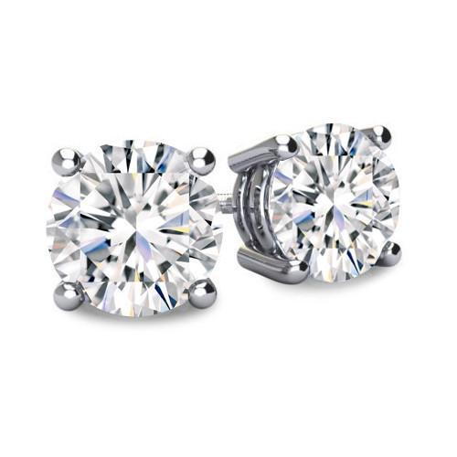 1/3ct Diamond Earrings set in 14K white gold