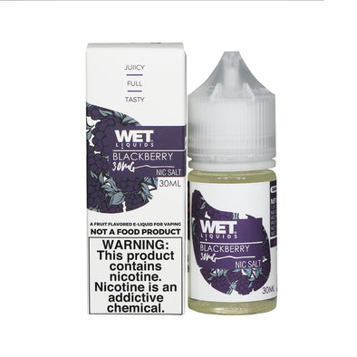 Wet Liquids - Blackberry (Nicotine Salt) - 30ml