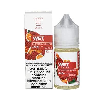 Wet Liquids - Raspberry Orange (Nicotine Salt) - 30ml