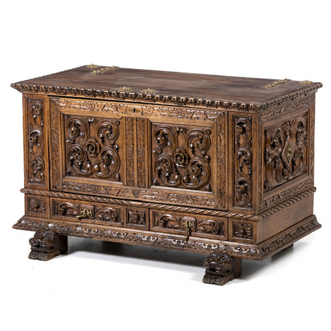 19th Century Portuguese Chestnut Chest