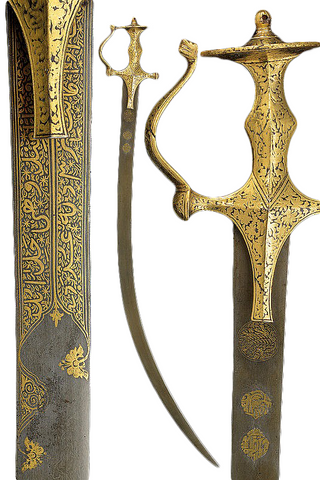 18th Century Indian Shamshir with Tulwar Type Mounts