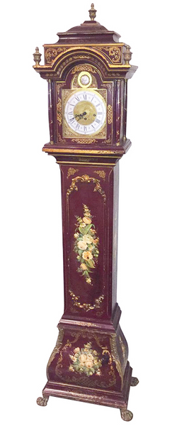 19th Century Italian Painted Hermle Granddaughter Clock