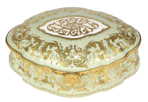 Late 19th Century French Porcelaine de Limoges lidded Vanity Box