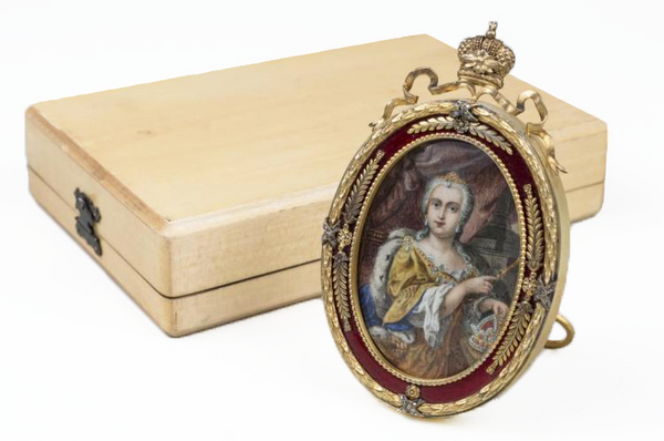 19th Century Russian Gilt Silver and Enamel Picture Frame