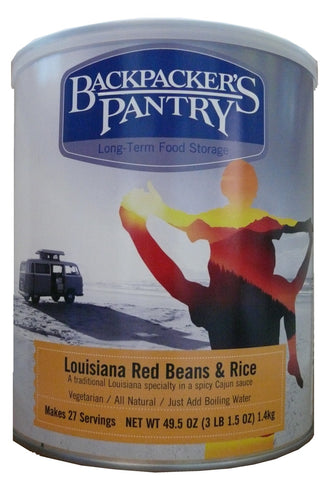 Backpacker's Pantry Louisiana Red Beans and Rice #10 Cans (Case of 4) - Forge Survival Supply