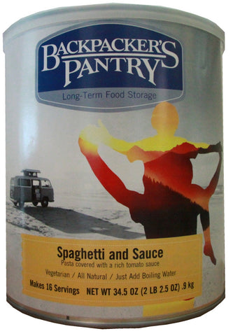 Backpacker's Pantry Spaghetti and Sauce #10 Cans (Case of 4) - Forge Survival Supply - lowest price
