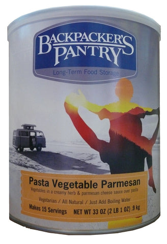 Backpacker's Pantry Pasta Vegetable Parmesan #10 Cans (Case of 4) - Forge Survival Supply
