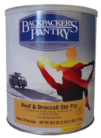 Backpacker's Pantry Beef and Broccoli Stir Fry #10 Cans (Case of 4) - Forge Survival Supply - lowest price