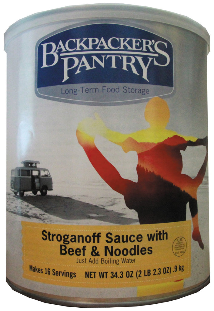 Backpacker's Pantry Stroganoff Sauce with Beef and Noodles #10 Cans (Case of 4) - Forge Survival Supply