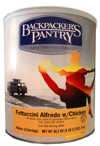 Backpacker's Pantry Fettuccini Alfredo with Chicken #10 Cans (Case of 4) - Forge Survival Supply