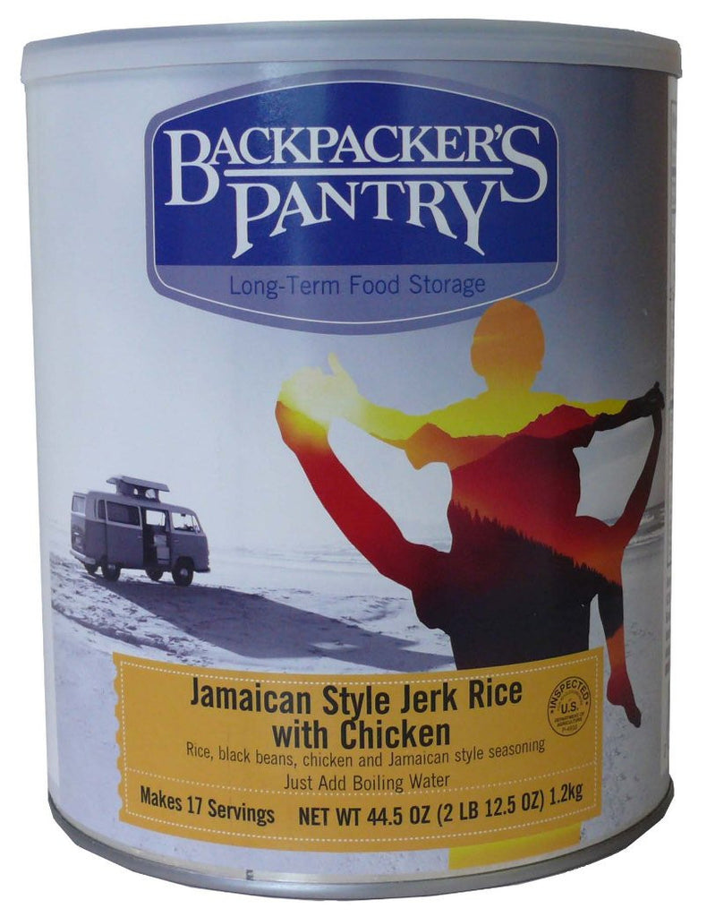 Backpacker's Pantry Jamaican Jerk Rice with Chicken #10 Cans (Case of 4) - Forge Survival Supply