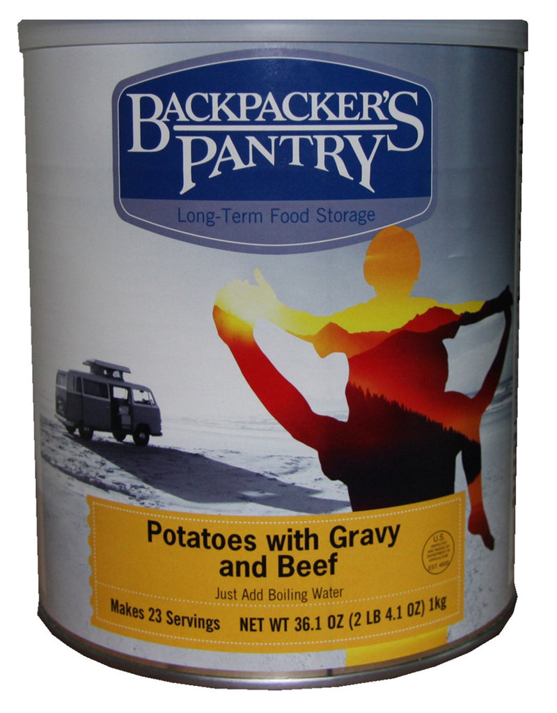 Backpacker's Pantry Mashed Potatoes and Gravy with Beef #10 Cans (Case of 4) - Forge Survival Supply