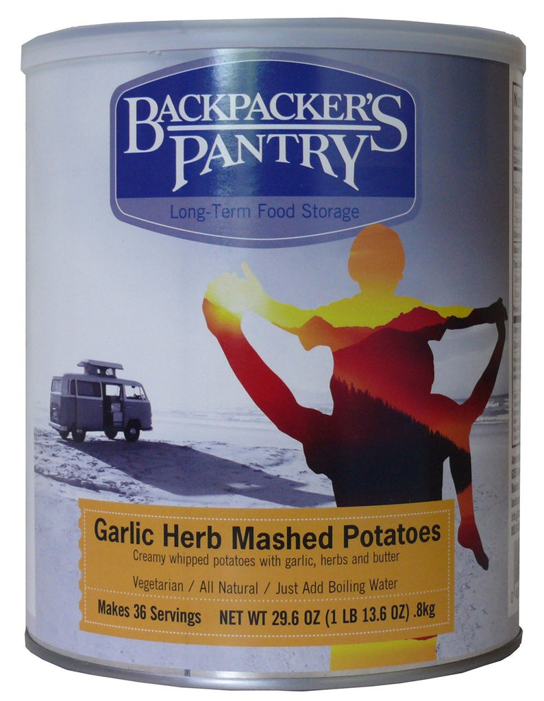 Backpacker's Pantry Garlic Herb Mashed Potatoes #10 Cans (Case of 4) - Forge Survival Supply