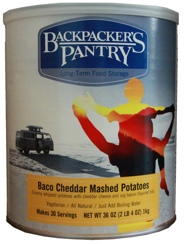 Backpacker's Pantry Baco Cheddar Mashed Potatoes #10 Cans (Case of 4) - Forge Survival Supply