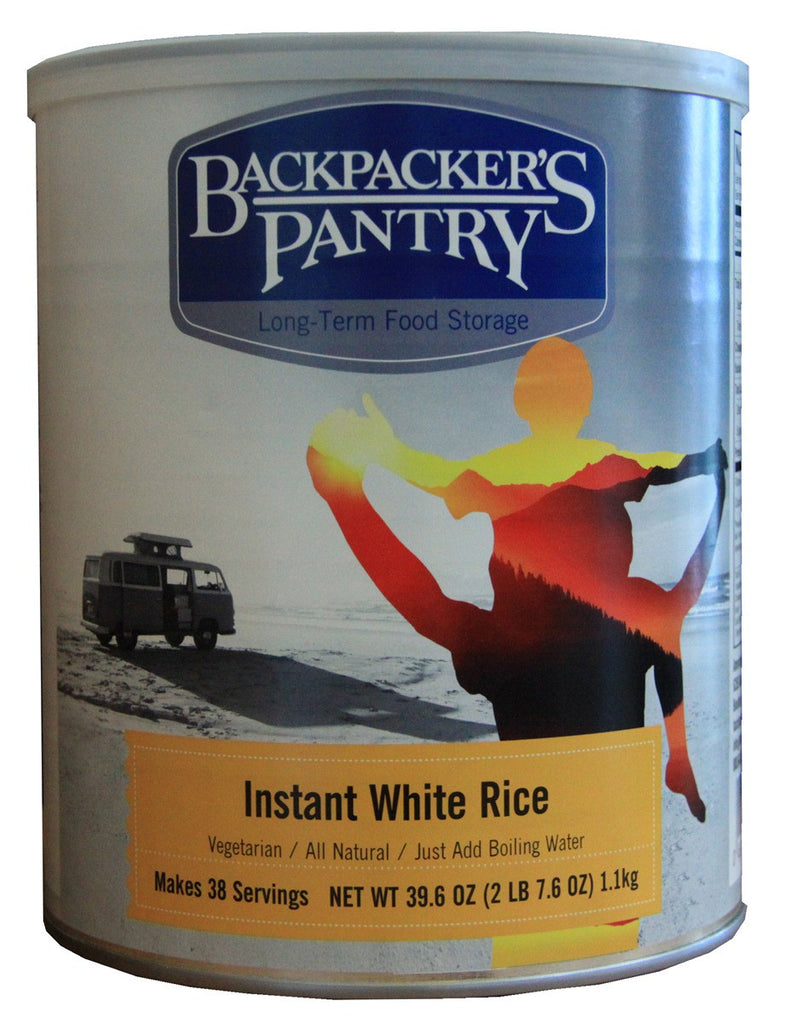 Backpacker's Pantry Instant White Rice #10 Cans (Case of 4) - Forge Survival Supply