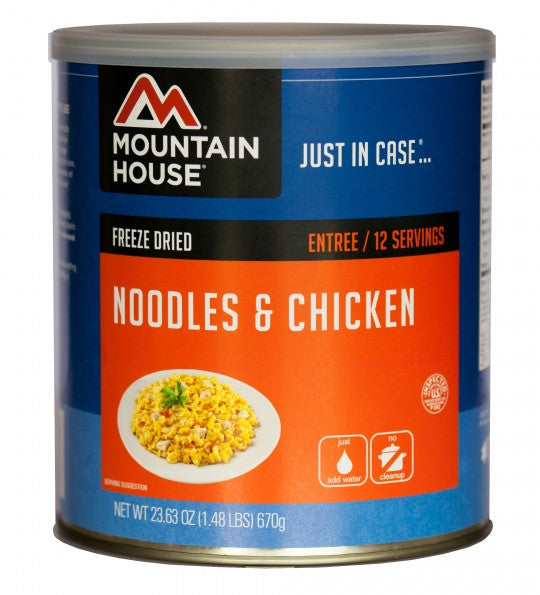Mountain House Freeze-Dried Noodles and Chicken #10 Cans (Case of 6)