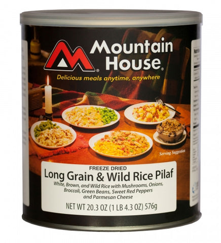 Mountain House Freeze-Dried Long Grain and Wild Rice Pilaf #10 Cans (Case of 6)