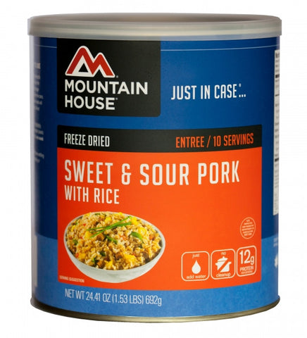 Mountain House Freeze-Dried Sweet and Sour Pork with Rice #10 Cans (Case of 6)