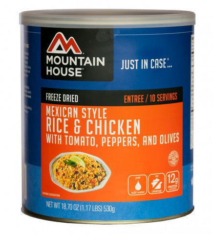 Mountain House Freeze-Dried Mexican Rice with Chicken #10 Cans (Case of 6) - Forge Survival Supply