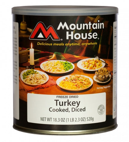 Mountain House Freeze-Dried Cooked Diced Turkey #10 Cans (Case of 6)