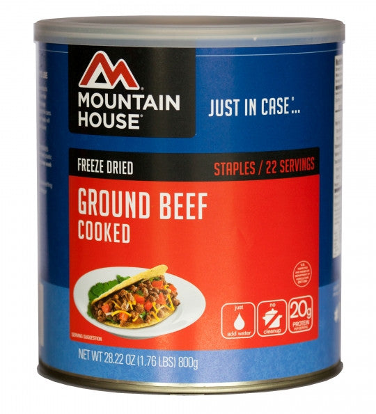 Mountain House Freeze-Dried Ground Beef #10 Cans (Case of 6) - Forge Survival Supply