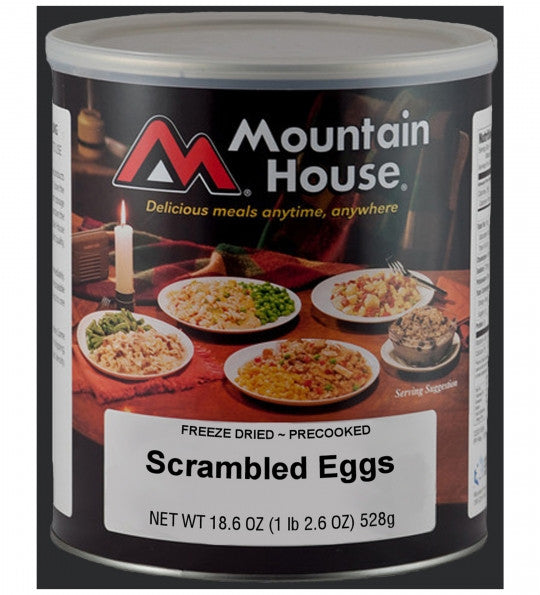 Mountain House Freeze-Dried Pre-Cooked Plain Scrambled Eggs #10 Cans (Case of 6)