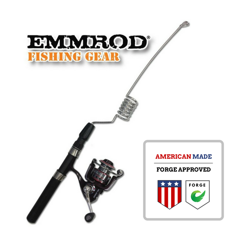 Emmrod Packrod Fishing Combo 6 Coil Spinning Pole w/ Zebco Adventure 30 Open Face Reel