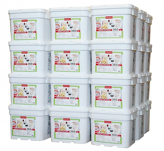 Lindon Farms Freeze-Dried Stackable Emergency Food Storage (1-Person 3-Years 12960 Servings)