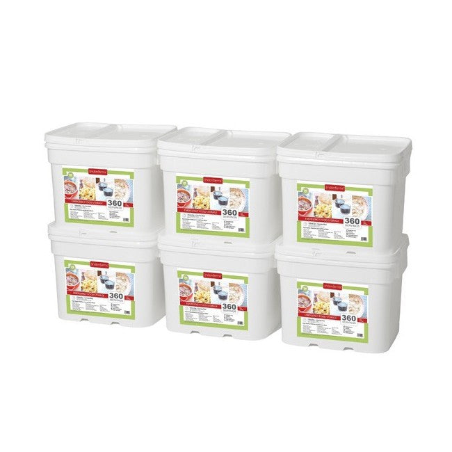 Lindon Farms Freeze-Dried Stackable Emergency Food Storage (1-Person 6-Months 2160 Servings)