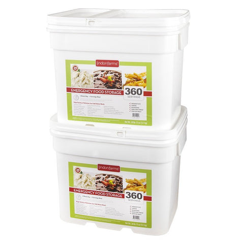 Lindon Farms Freeze-Dried Stackable Emergency Food Storage (1-Person 2-Months 720 Servings) - Forge Survival Supply