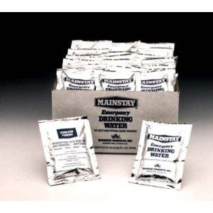 Mainstay Emergency Drinking Water Pouches (Case of 60)