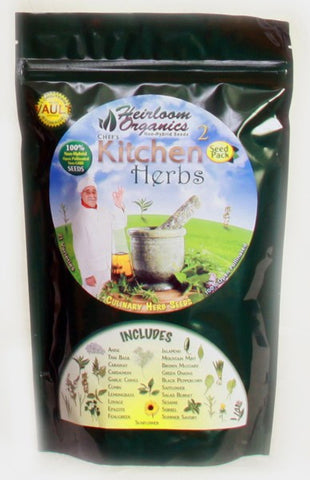 Heirloom Organics Professional Kitchen Herbs Pack - Forge Survival Supply - lowest price