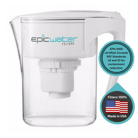 Pure Water Filtration Pitcher by Epic Water Filters