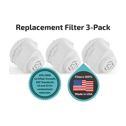 3-Pack Replacement Filters for Pure Water Filtration Pitcher