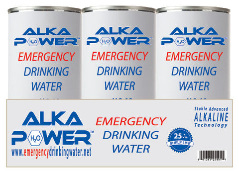 AlkaPower Canned Emergency Alkaline Drinking Water (6 Pack)