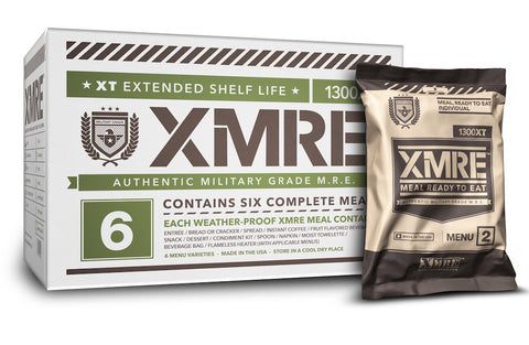 XMRE 1300XT Includes MRE Heater Bags (Case of 6) - Forge Survival Supply
