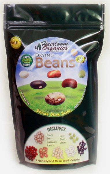 Heirloom Organics Dry Beans Pack - Forge Survival Supply