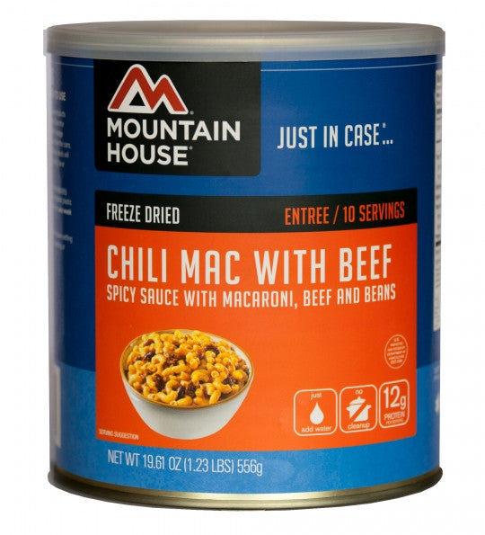 Mountain House Freeze-Dried Chili Mac with Beef #10 Cans (Case of 6) - Forge Survival Supply