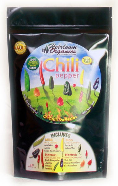 Heirloom Organics Chili Peppers Pouch - Forge Survival Supply