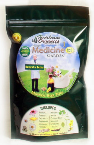 Heirloom Organics Family Medicine Herb Garden - Forge Survival Supply