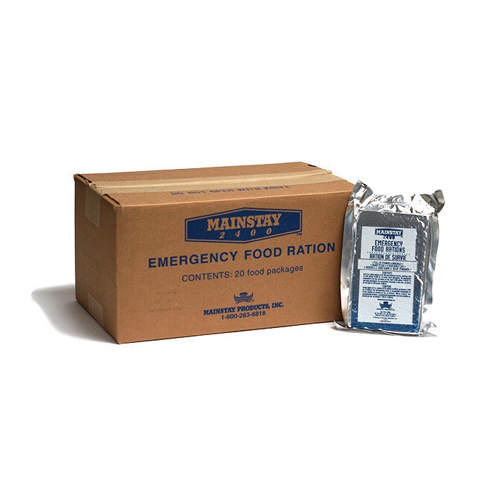 Mainstay 2400-Calorie Emergency Food Bars (Case of 20)